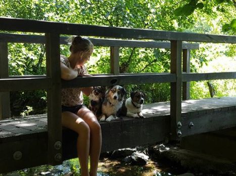 Kim Hanieph ans her pets